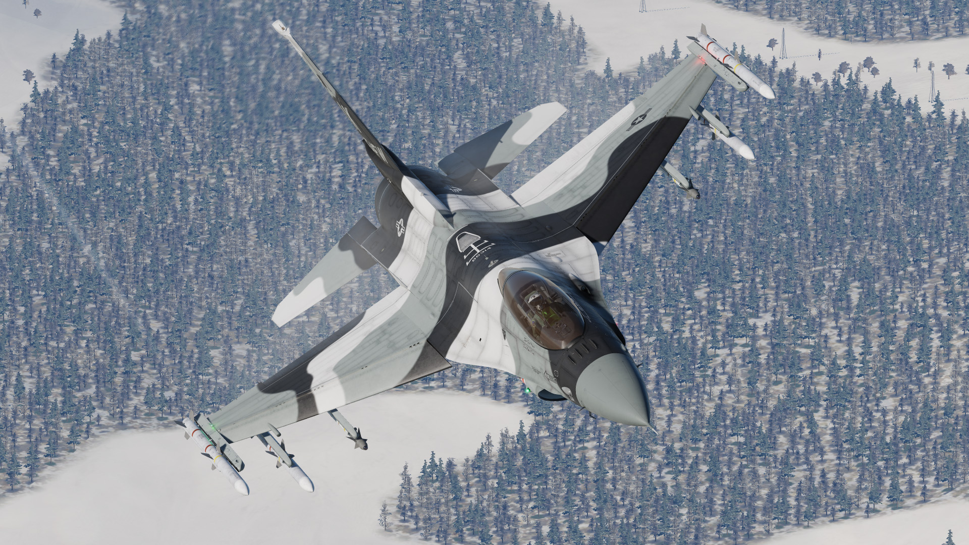 F-16C : United States Air Force - 'The ALASKA Aggressor' 86-314 v2.6 (Semi-Weathered)