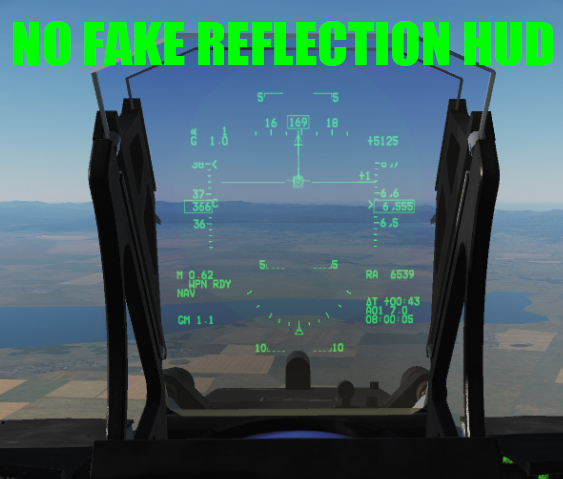 JF-17 No Baked Reflection in HUD Glass