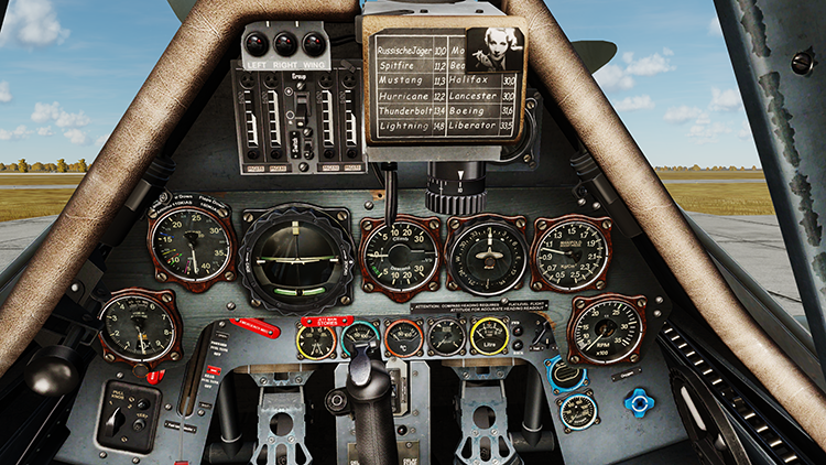 FW-190D-9 English cockpit fixed