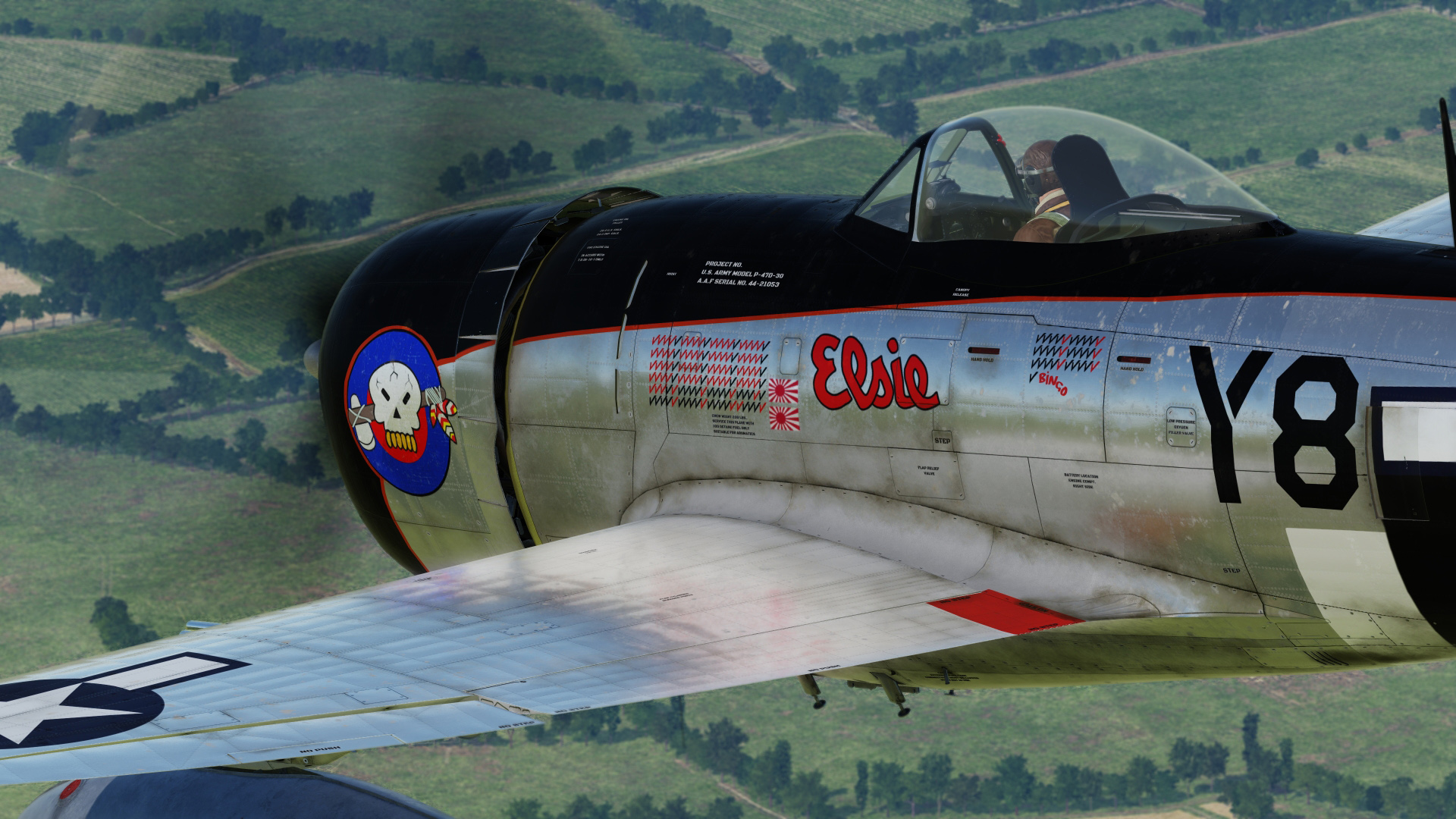 P-47D Elsie Lil Butch, Squadron Commander 507th FS-404th FG, United Kingdom-1944 (update V3 FINAL)
