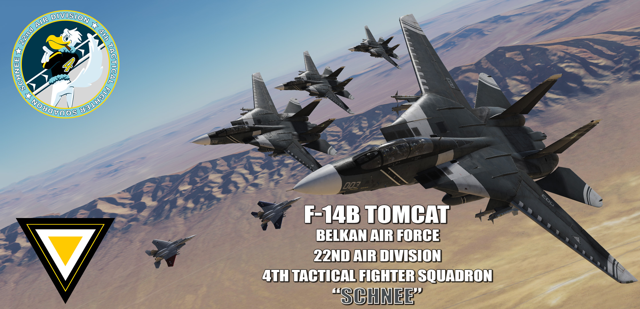"Ace Combat - Belkan Air Force 22nd Air Division, 4th TFS ""Schnee"" F-14D Super Tomcat"