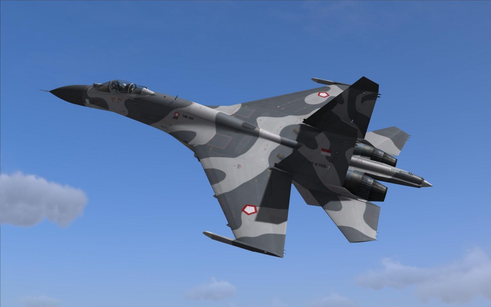 Block World Free >> Indonesian Air Force Su-27S skin.
