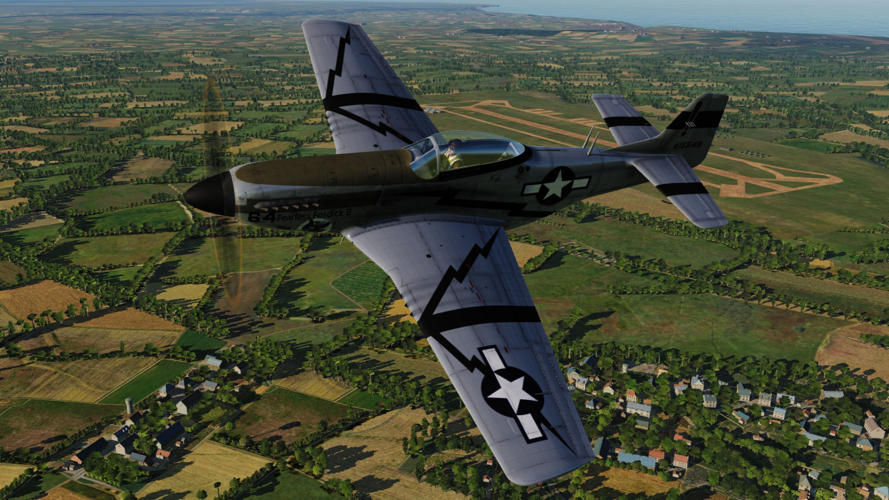 Fearless Fossdick II 44-15549 2nd FS, 2nd ACG updated for DCS World 2.5.5