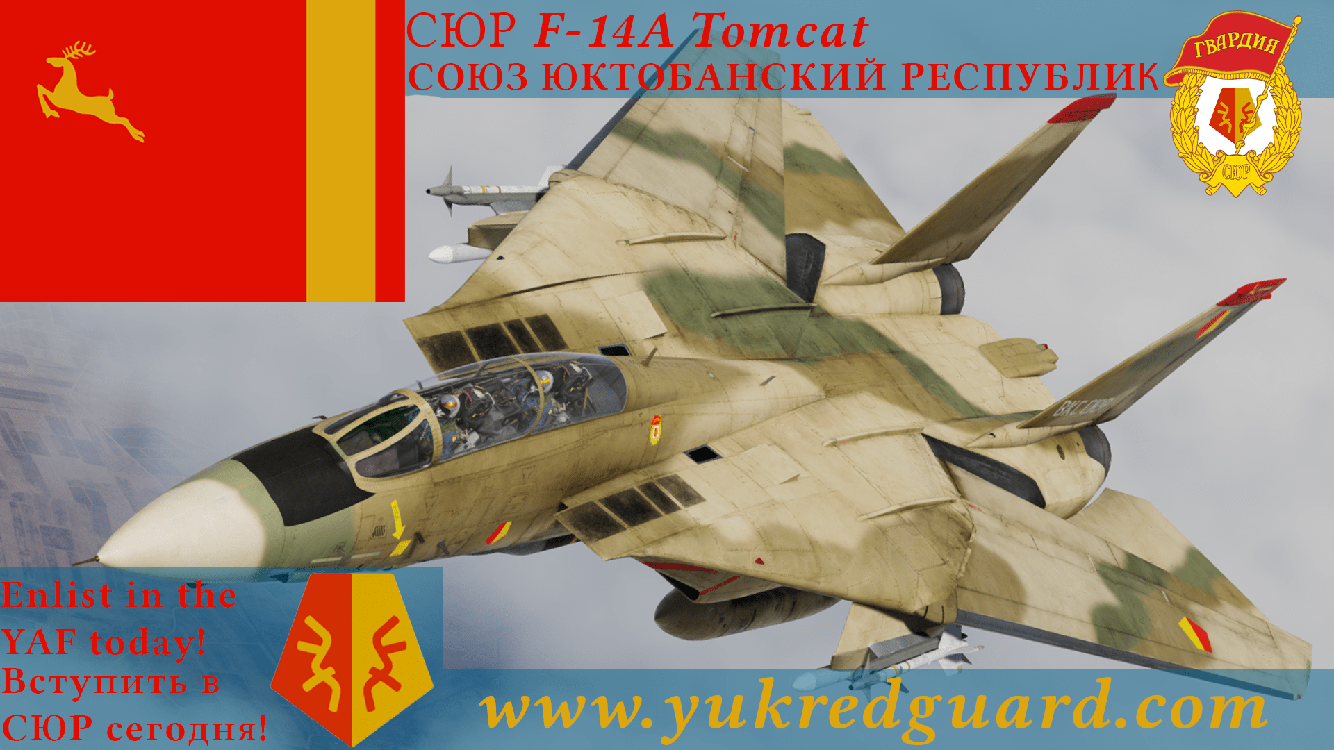 Yuktobanian Air Force F-14A - Ace Combat - Yuktobanian Red Guard