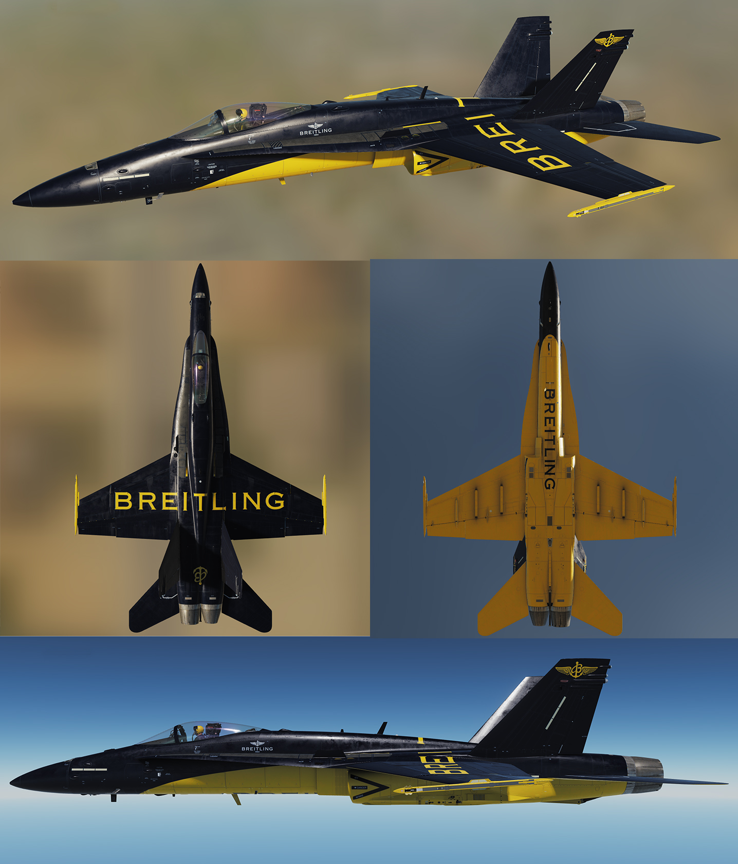 F-18 Racing Livery: Breitling