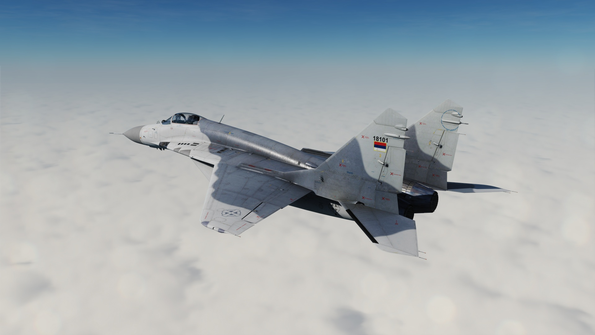 "Serbian Air Force LAE ""Vitezovi"" MiG-29 Low Vis"