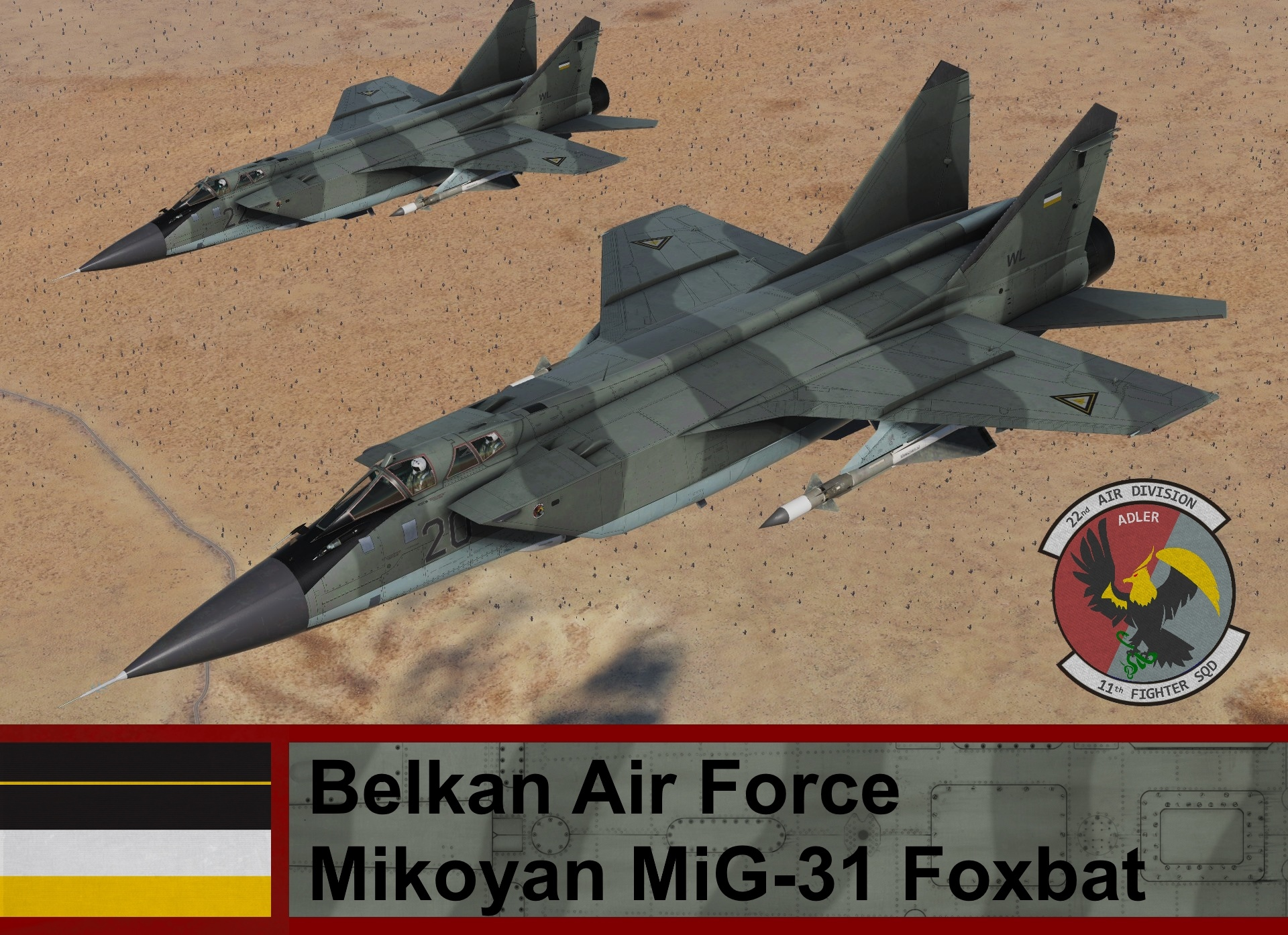 Belkan Air Force Mikoyan MiG-31 Foxbat - Ace Combat Zero (11th TFS)