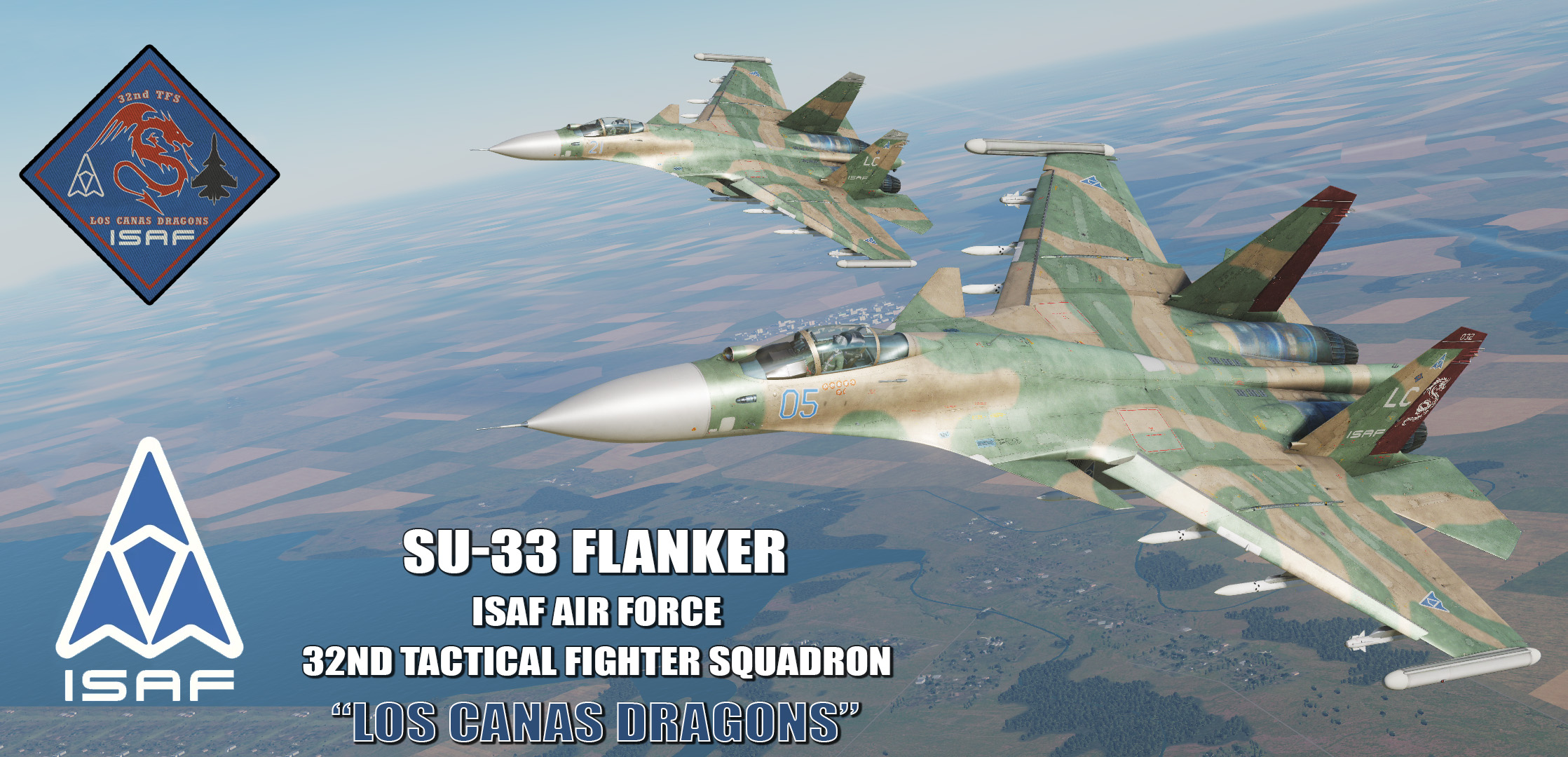 "Ace Combat - ISAF Air Force 32nd Tactical Fighter Squadron ""Los Canas Dragons"" SU-33 Flanker"