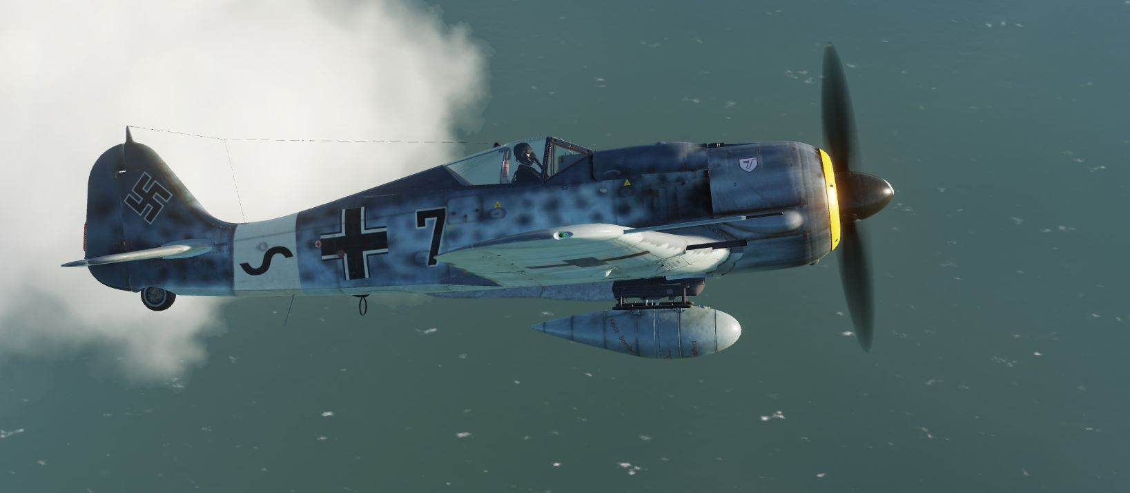 FW190 A8  ultimate pack  : One new Skin + Darker RLM cockpit