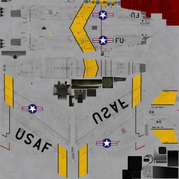 Texture template for F-86F model