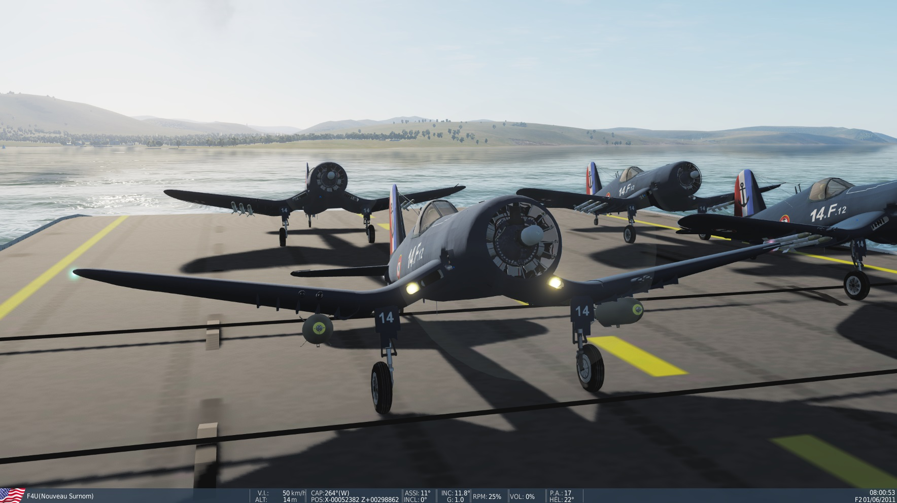 MOD R95 ARROMANCHES and F4U CORSAIR FLYABLE BY Eric et Patrick