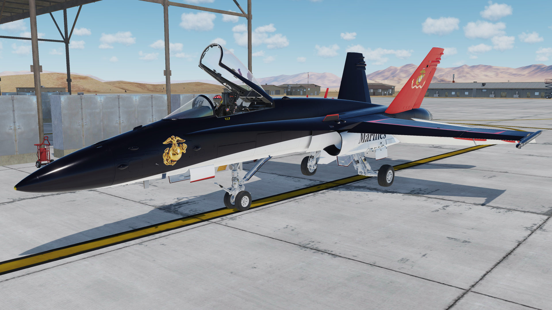 Fictional USMC F/A-18C in dress blue colors