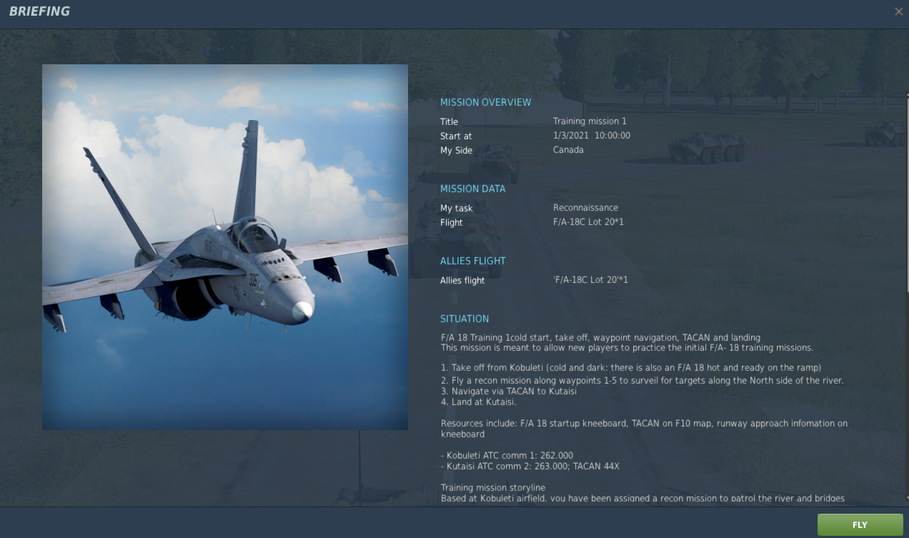 F/A 18 Basic Training Mission 1