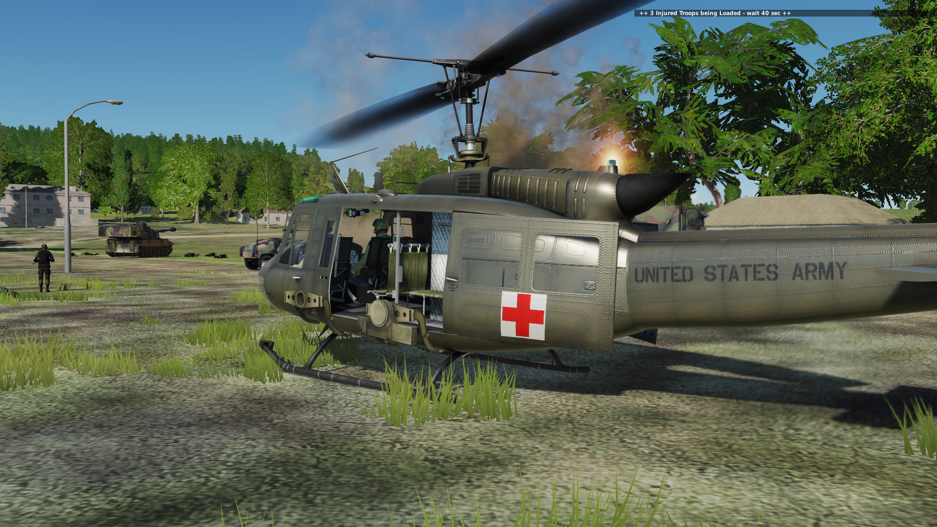 FARP Hollywood 003 - Battle of Bulitsku - Huey Medevac