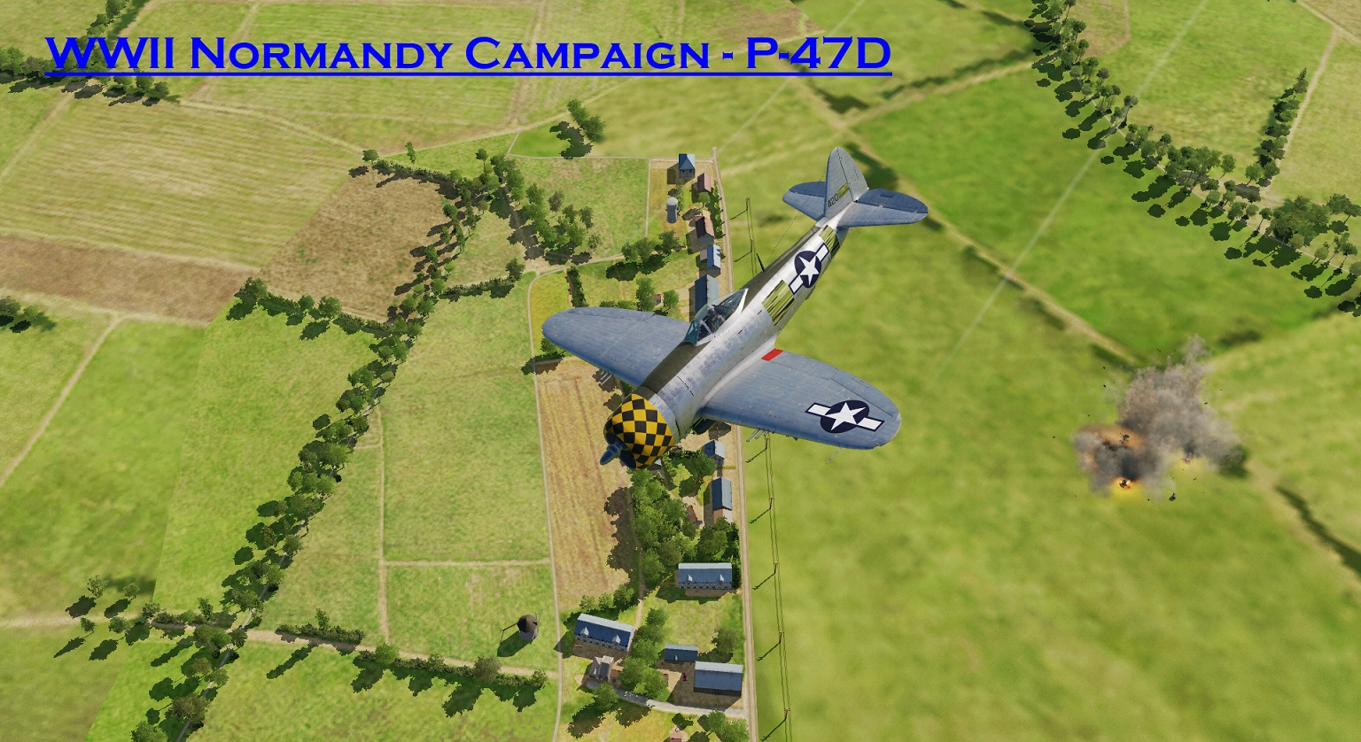 WWII Normandy P-47D using Mbot Dynamic Campaign Engine