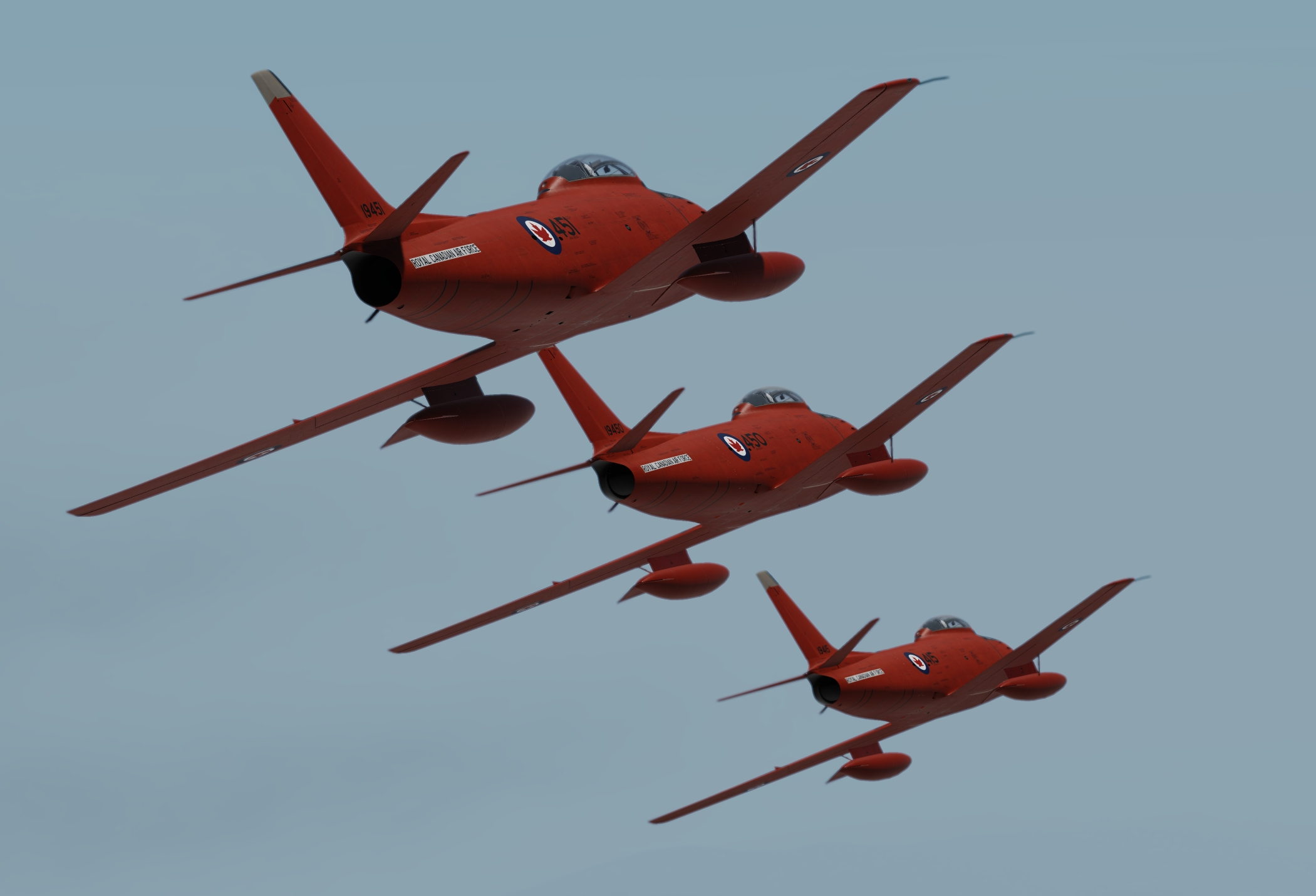 RCAF Fireballs 4-Ship Team for the Sabre Mk.5