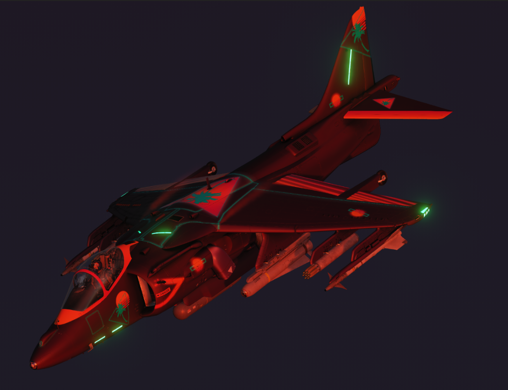 Synthwave AV8B Harrier Livery