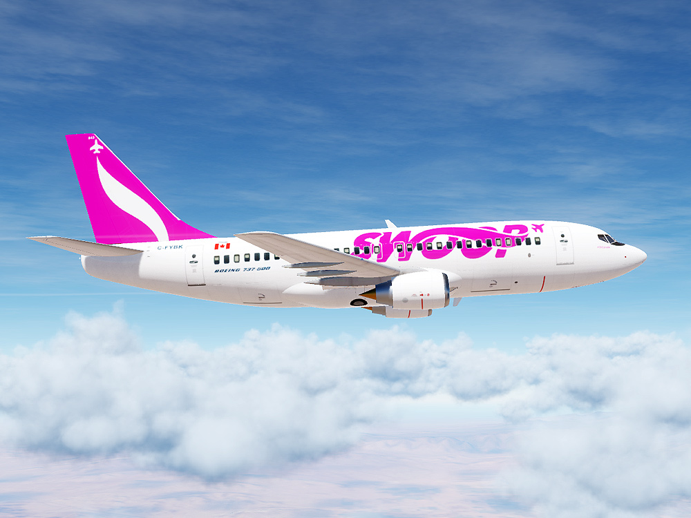 Swoop Airlines Boeing 737 (Modern Paint for Civil Aircraft Mod)