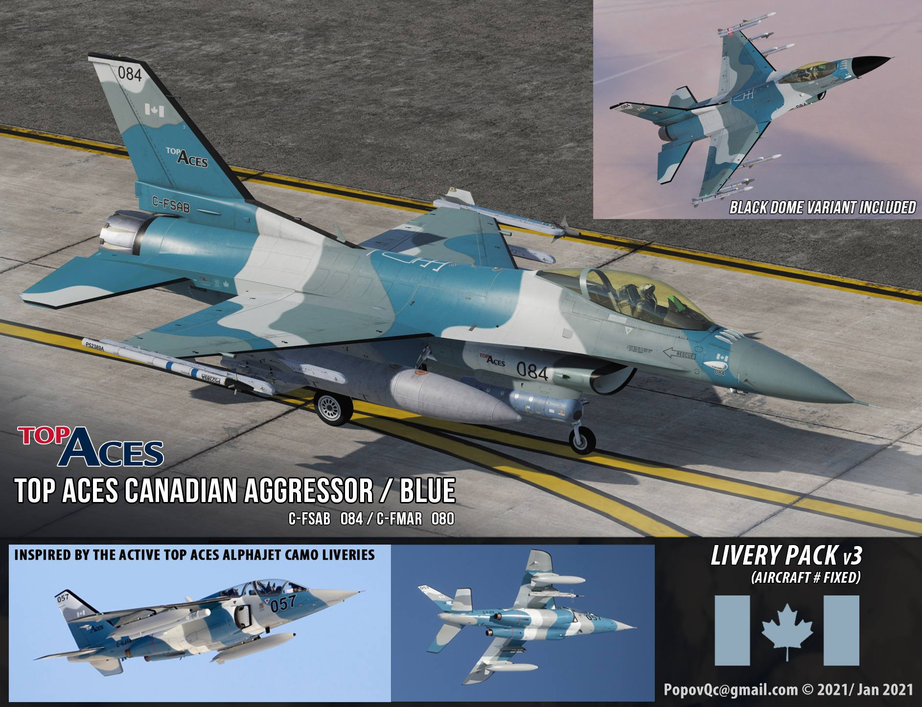 TopAces Aggressor Liveries Canadian Viper (v3)