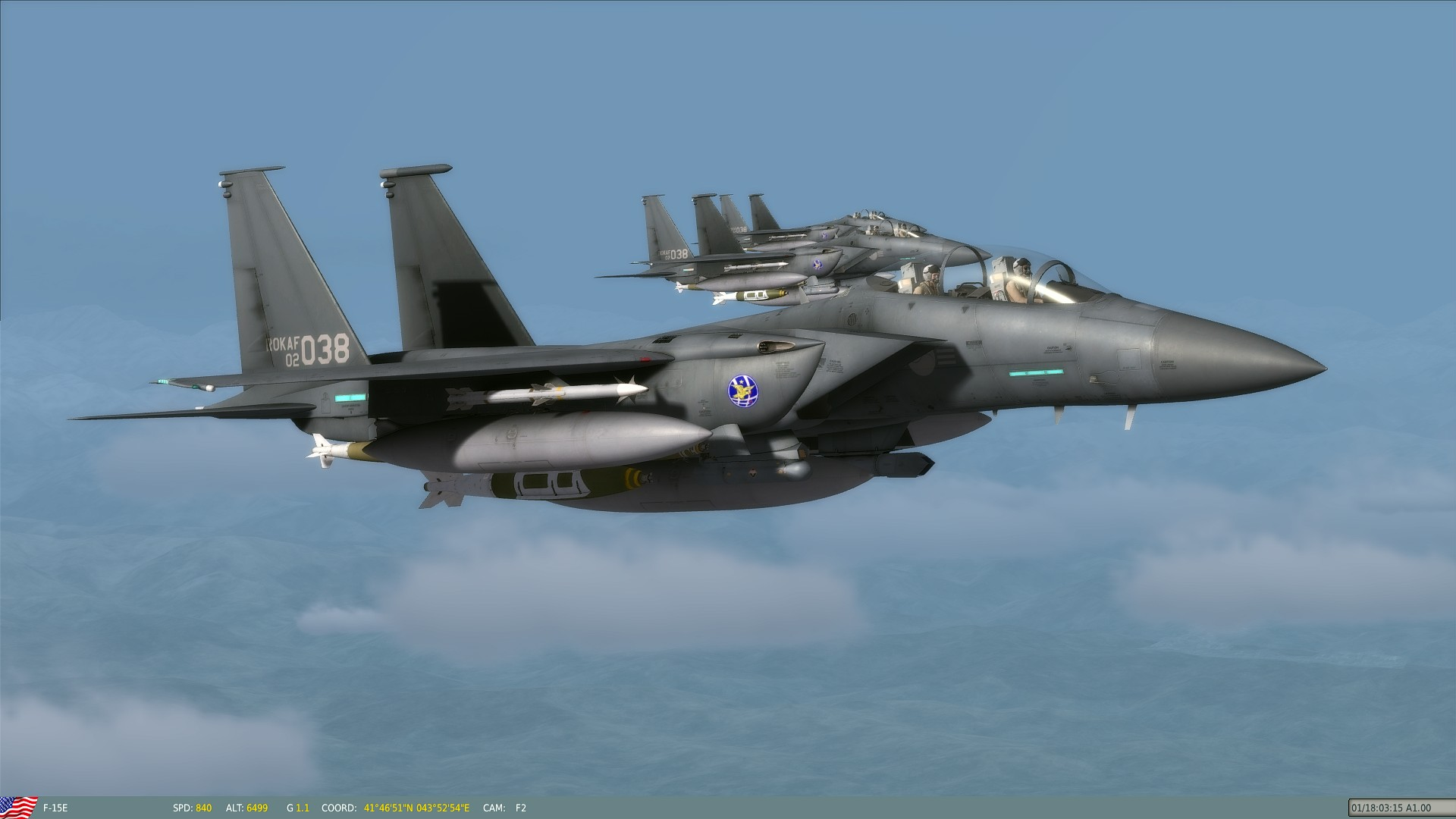 Rok Air Force F 15k Skin
