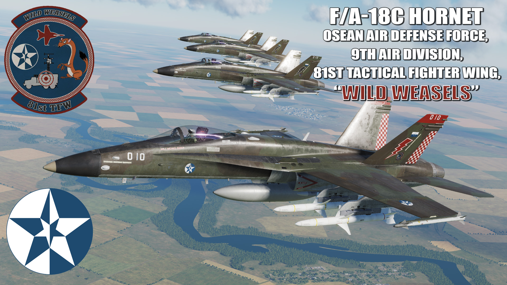 "Ace Combat - Osean Air Defense Force 9th Air Division, 81st TFW ""Wild Weasels"" F/A-18C Hornet"