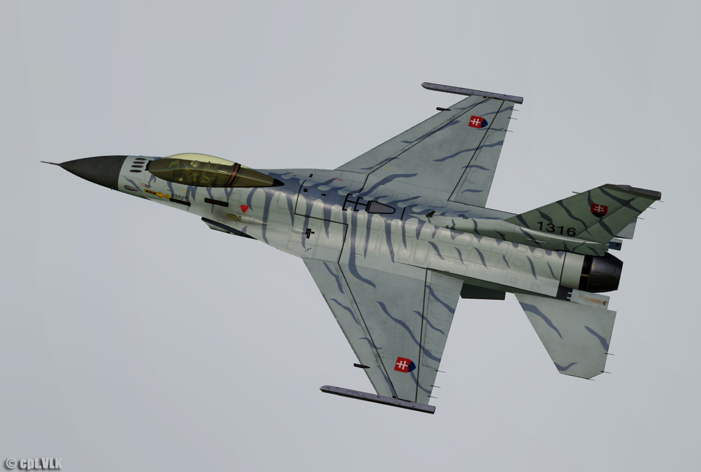 F-16C Slovak Air Force camouflage 1316