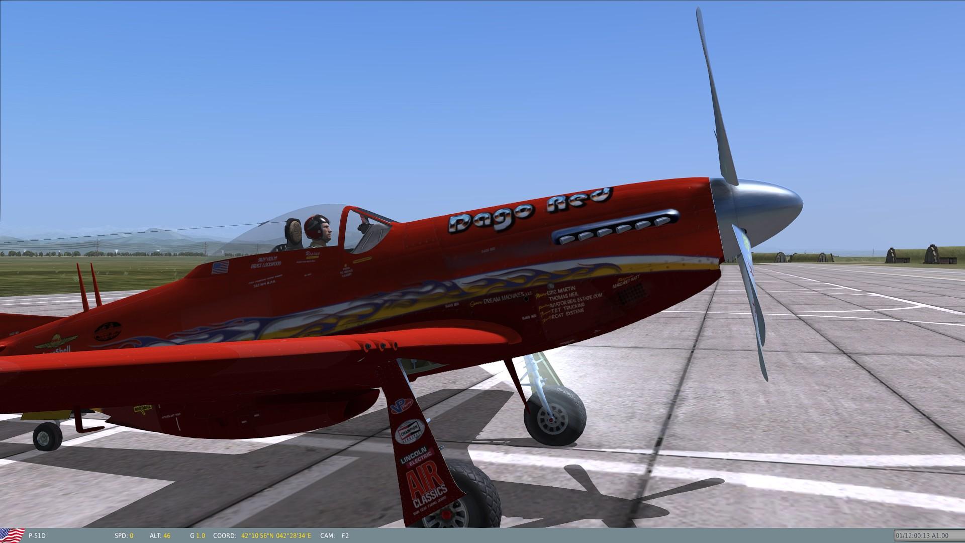 P 51 Reno Racer Dago Red