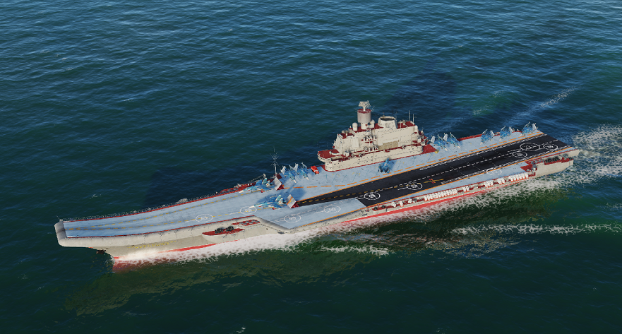 SU 33 Sea Dragon with New Kuznetsov (Super Carrier). Patched. V2.56x. Credits to MadDogIC
