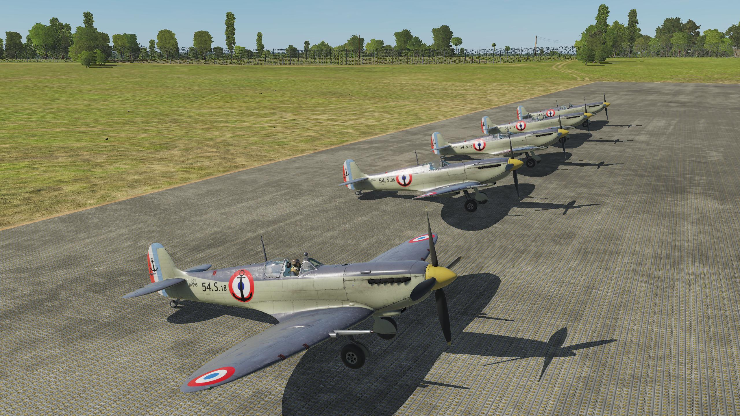 [Semi-Fictional] French Navy Seafire XV Livery Pack