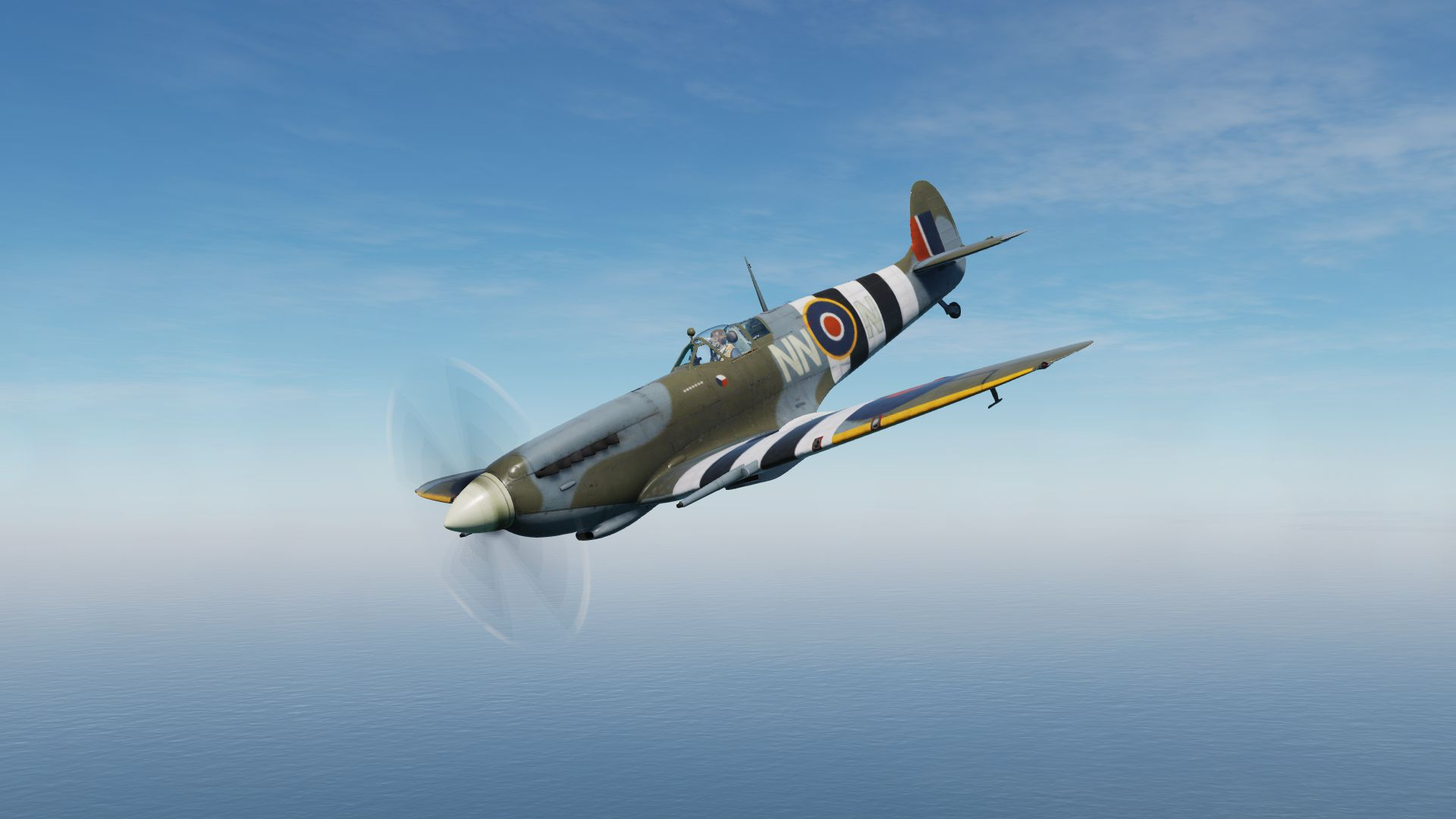 Spitfire Mk.IX, MJ291, flown by Czech ace Otto Smik, 310. Sq. spring 1944