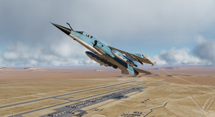 Mirage F1 Blue used livery with new paint for the RP 35 tanks