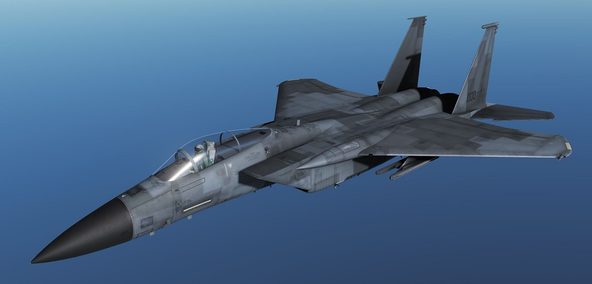 Digital Gray F-15C By Cutlass72