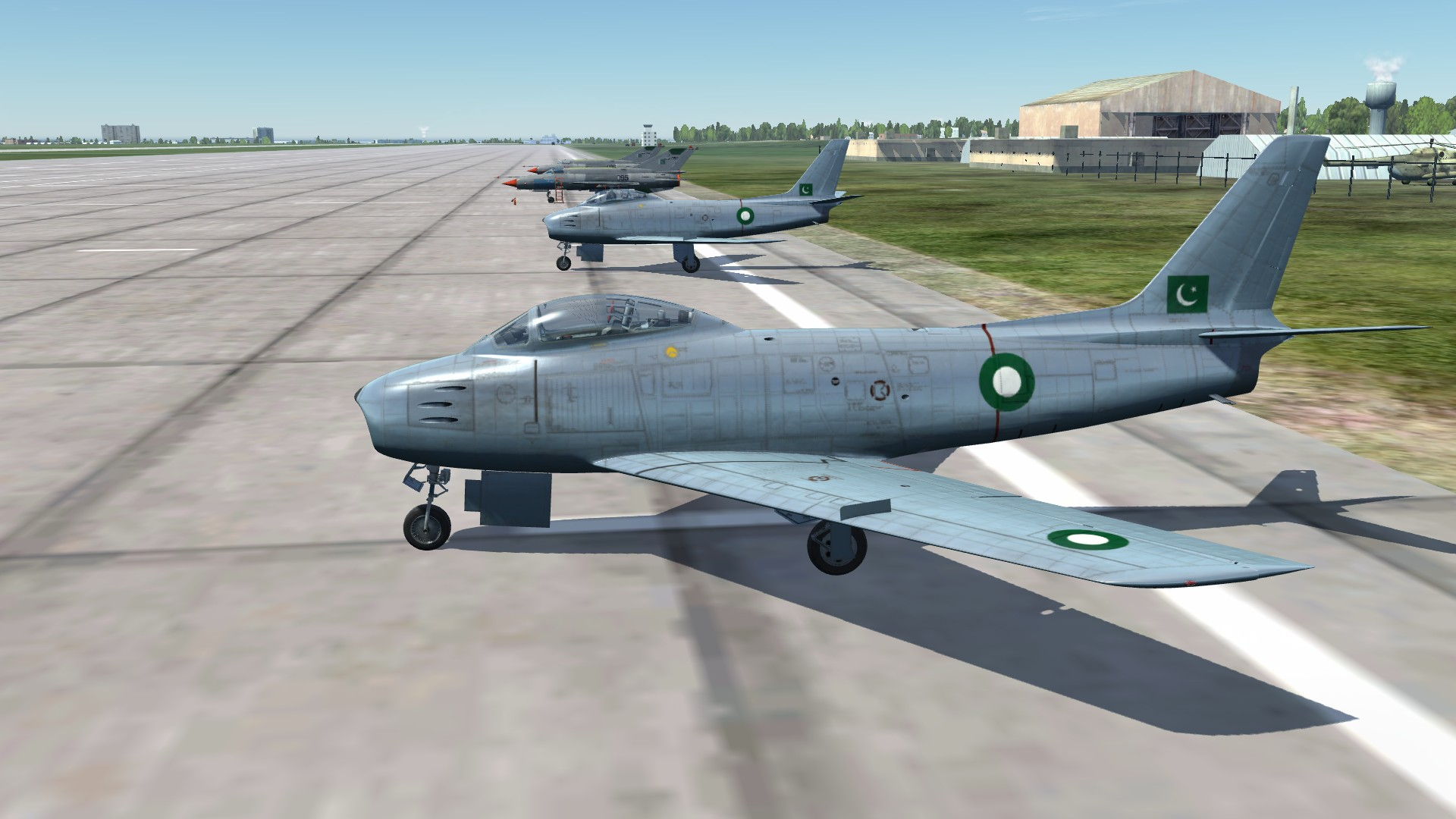 Pakistani Air Force F 86 Bare Metal Skin