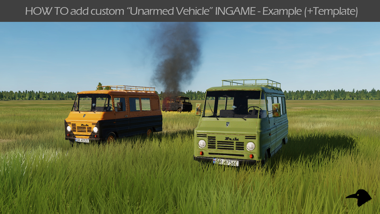 "HOW TO add custom ""Unarmed Vehicle"" INGAME Mod + Template"
