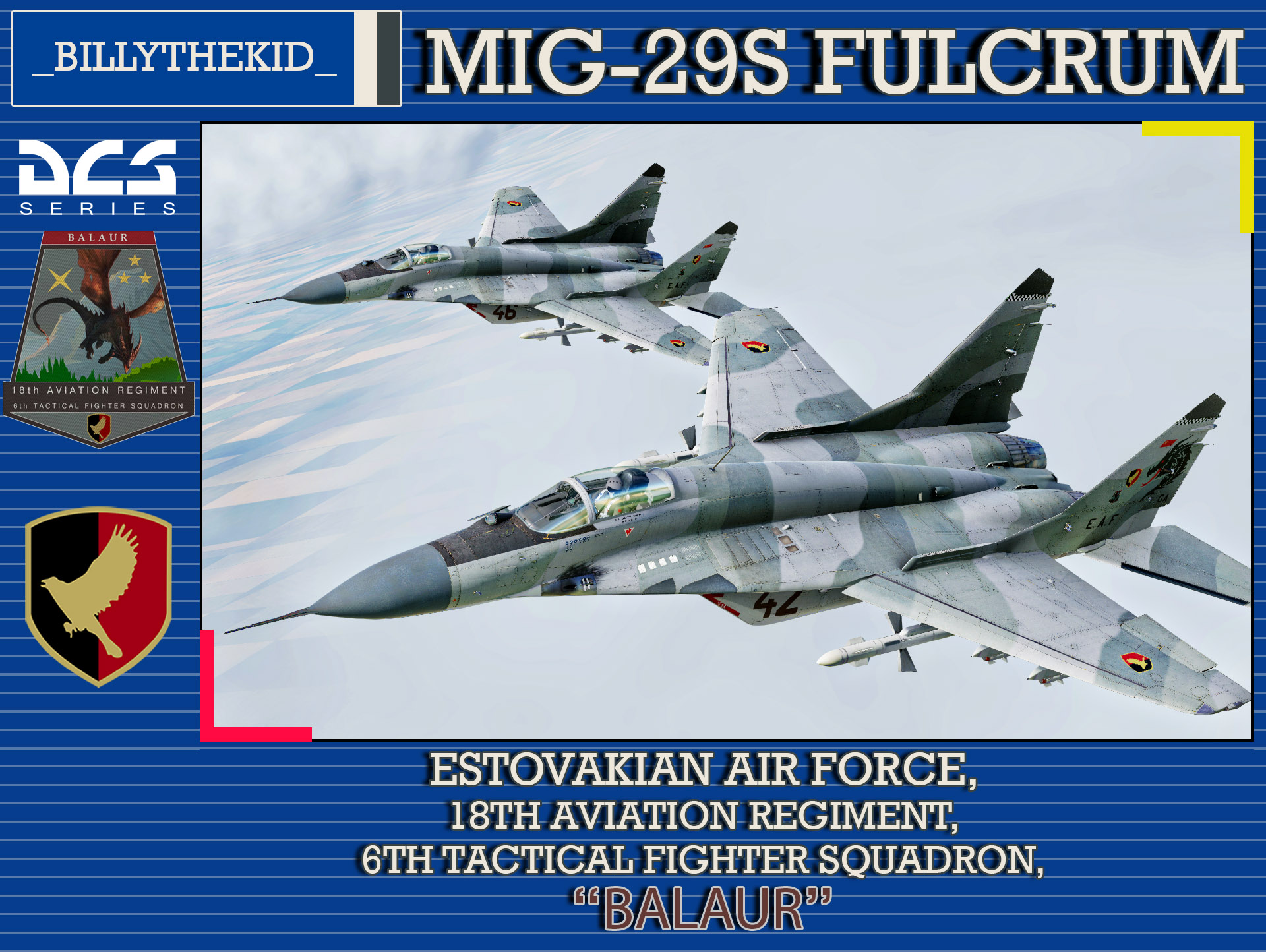 "Ace Combat - Estovakian Air Force - 18th Aviation Regiment - 6th Tactical Fighter Squadron ""Balaur"" MiG-29S Fulcrum"