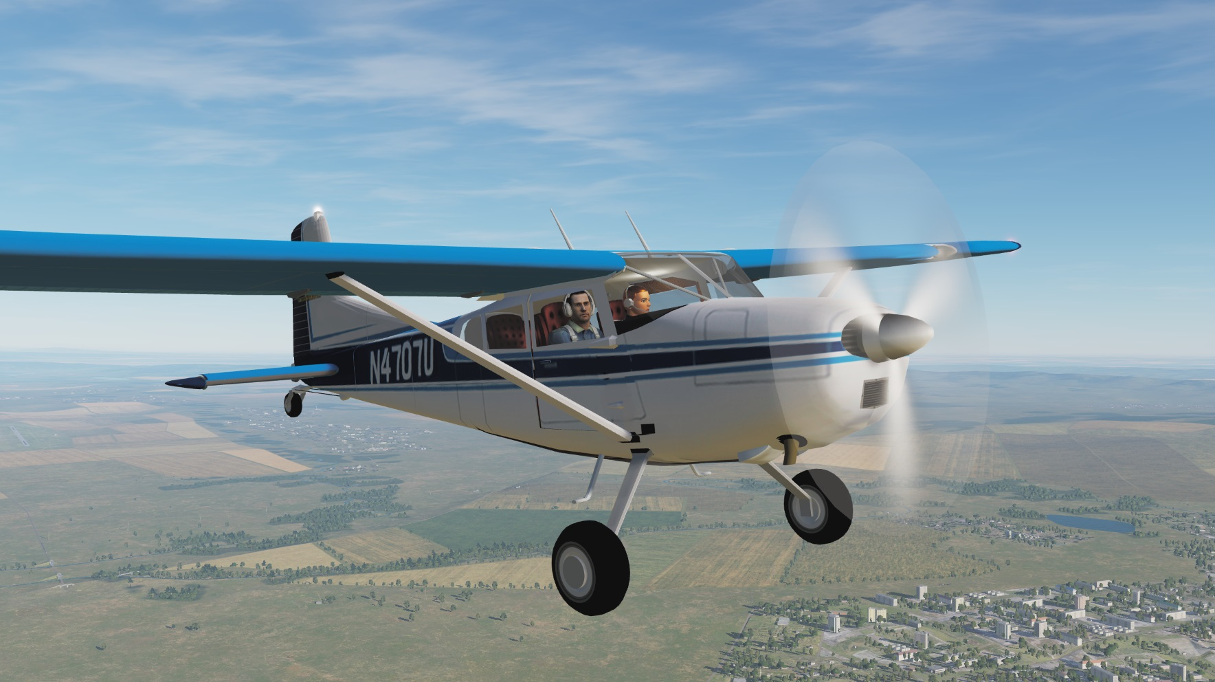 MOD CESSNA C 185 SKYWAGON DCS adaptation by Eric et Patrick