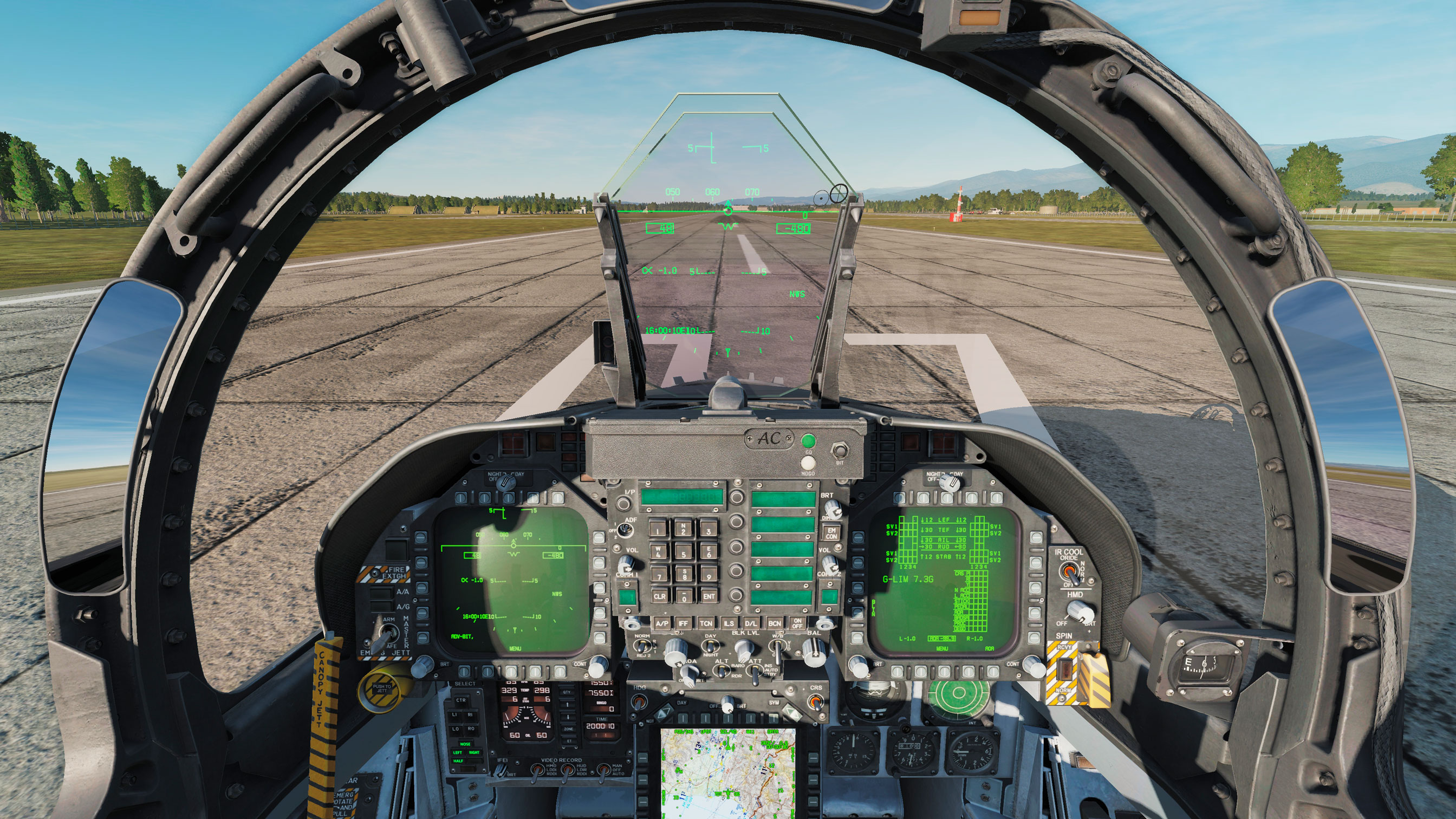 Clean cockpit for the F-18