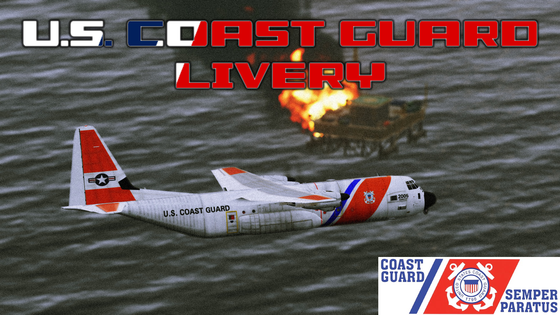 US Coast Guard Livery for Anubis C-130J-30 v2