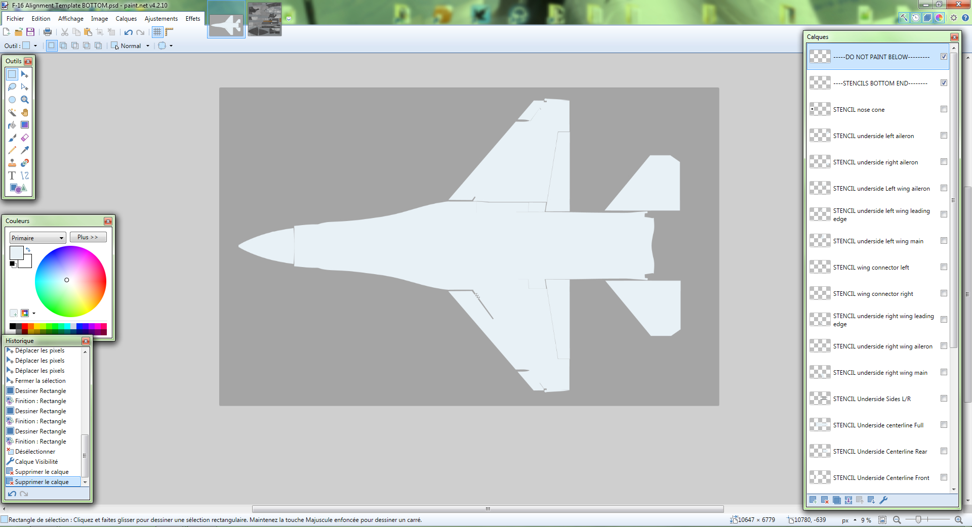 F-16C Alignment Templates
