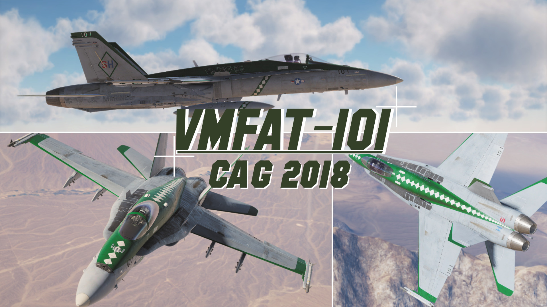 F/A-18C Hornet Lot 20, VMFAT-101 Sharpshooters, CAG 2018