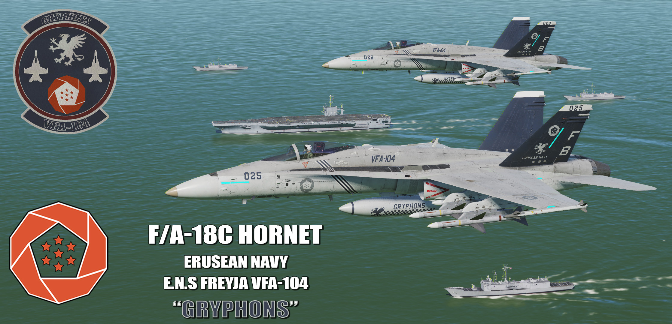 "Ace Combat - Erusean Navy VFA-104 ""Gryphons"" F/A-18C Hornet"
