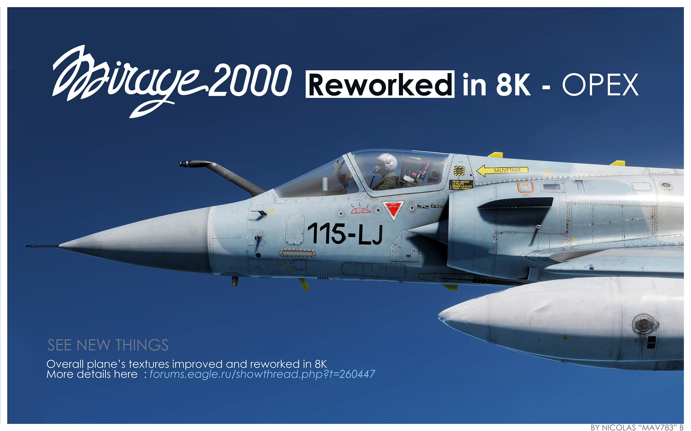 Overall improved and reworked textures in 8K ! - Mirage 2000C - (JSGME ready)