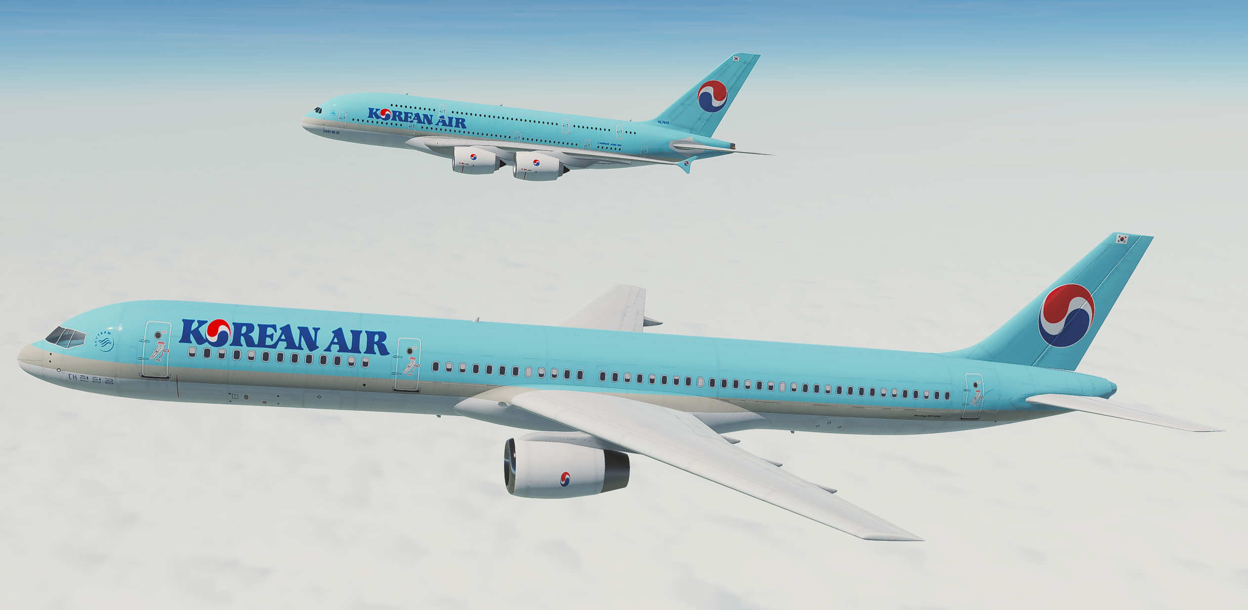 Korean Air   Boeing 757-200 for Civil Aircraft Mod.