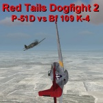 Red Tails Dogfight 2 P-51D vs Bf 109 K-4