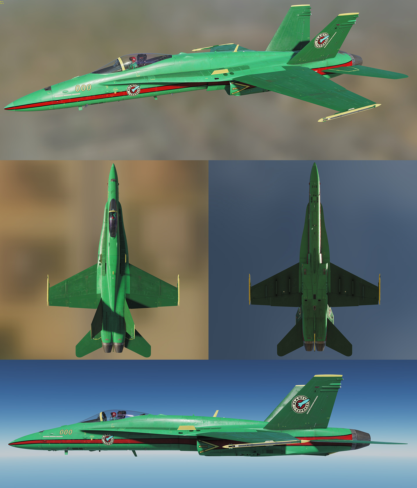 F-18 Racing Livery: Planet Express