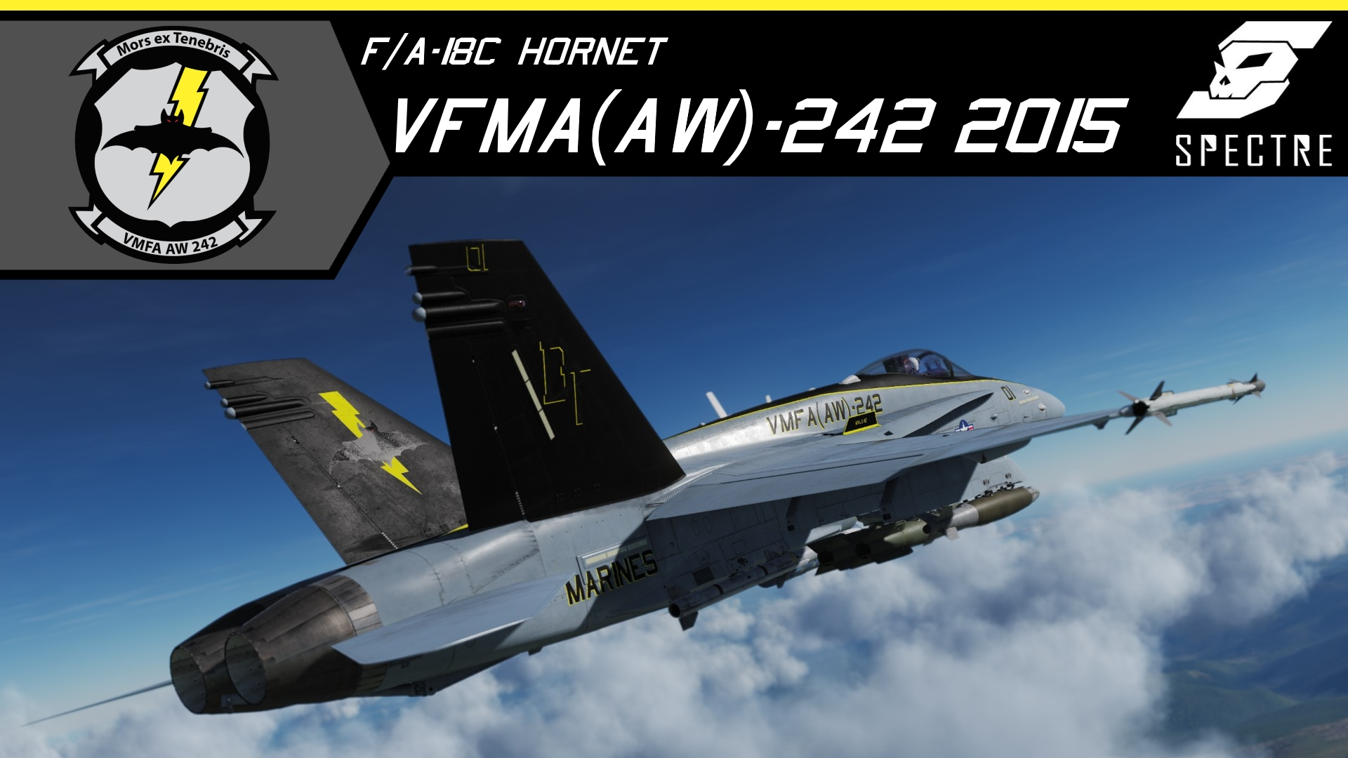 F/A-18D VMFA(AW)-242 Bats CAG and high visibility *Updated*