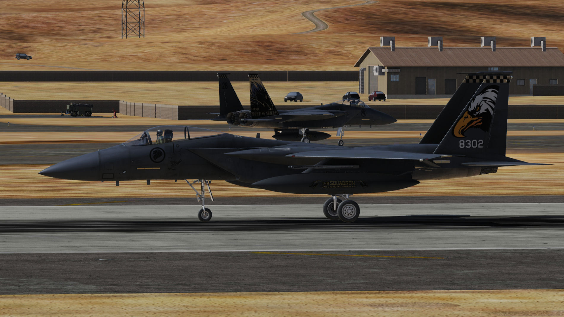 RSAF, 149th Squadron, 2x F15C ( fictional representing F-15SG's) BonusPack, The Artwork Tails.