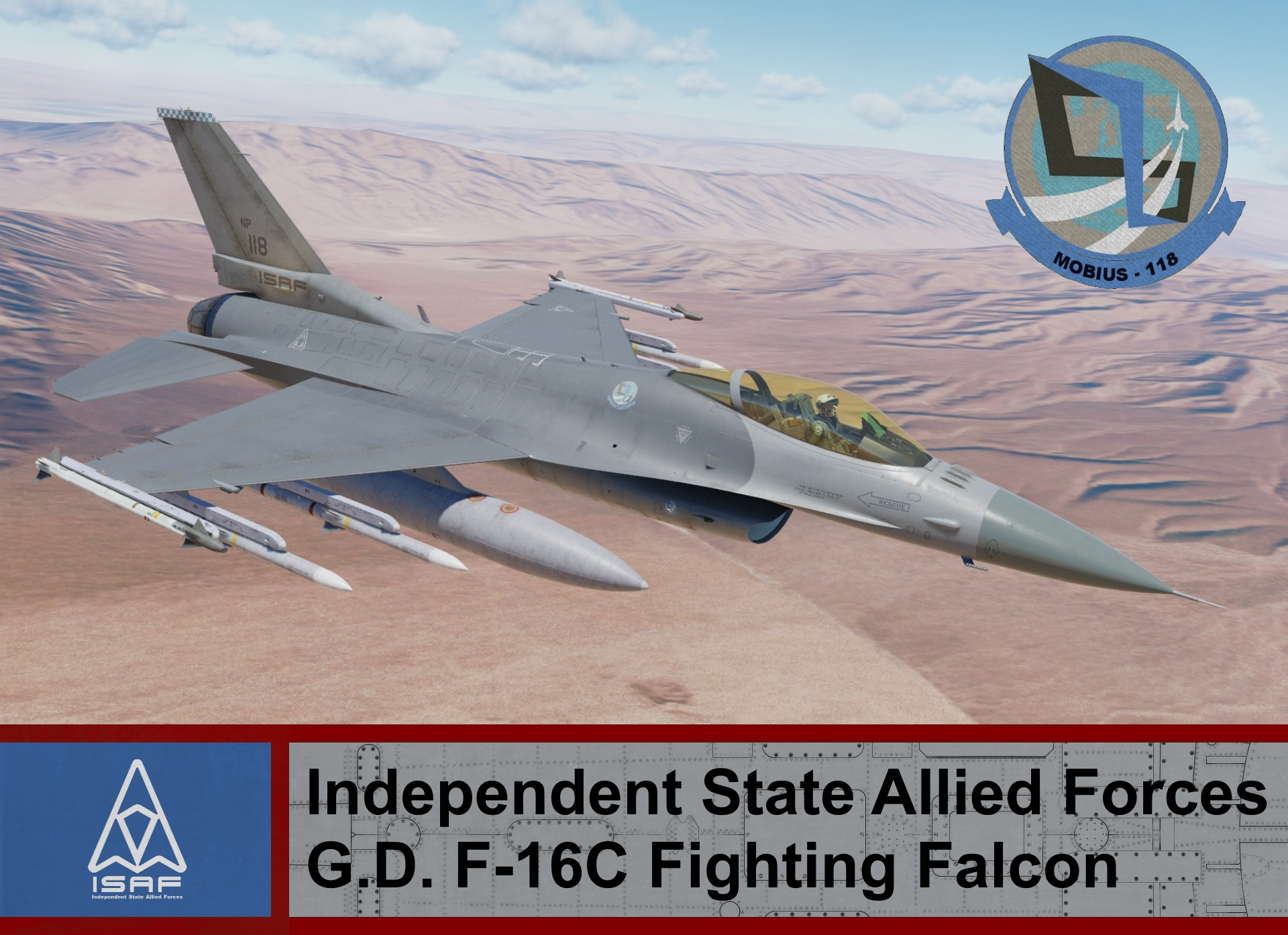 Independent State Allied Forces F-16C Block 50 - Ace Combat 4 (Mobius One)