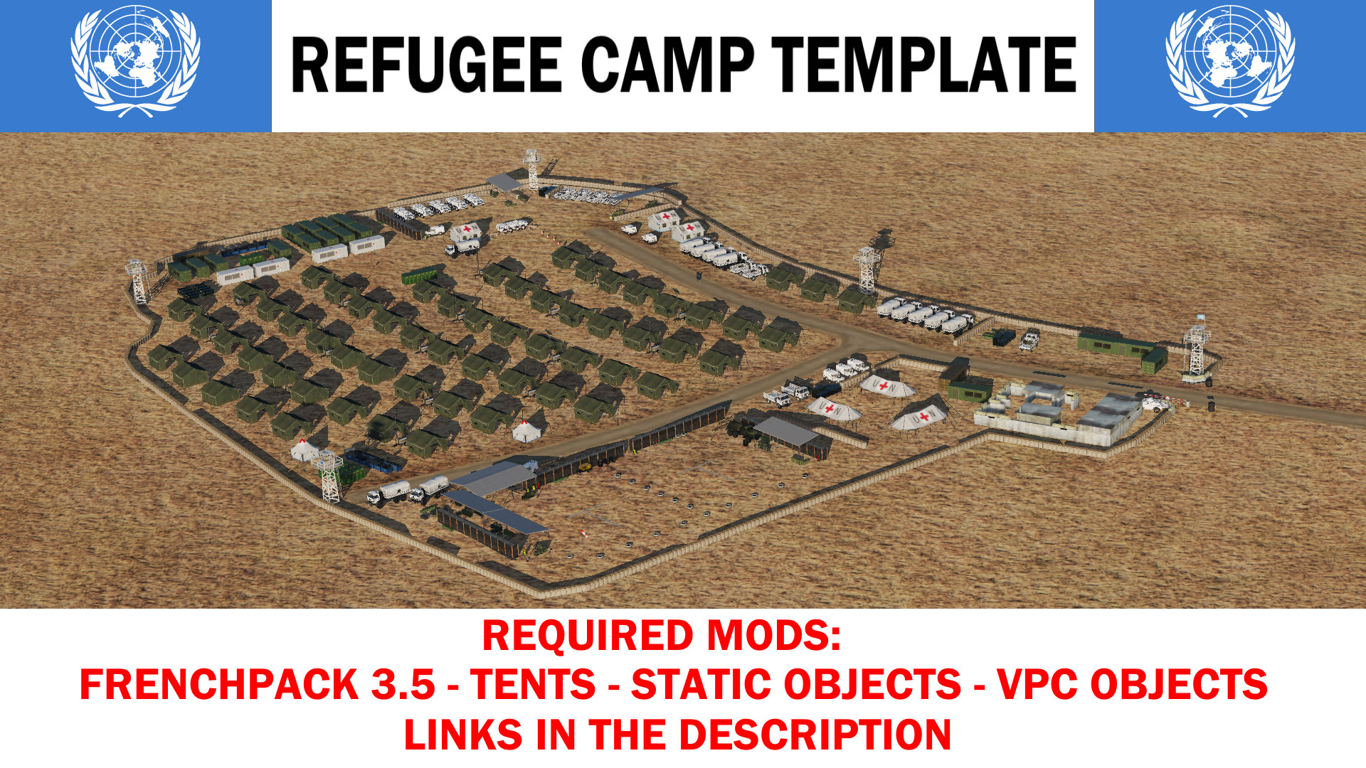 United Nations Refugee Camp Template (SoH map)