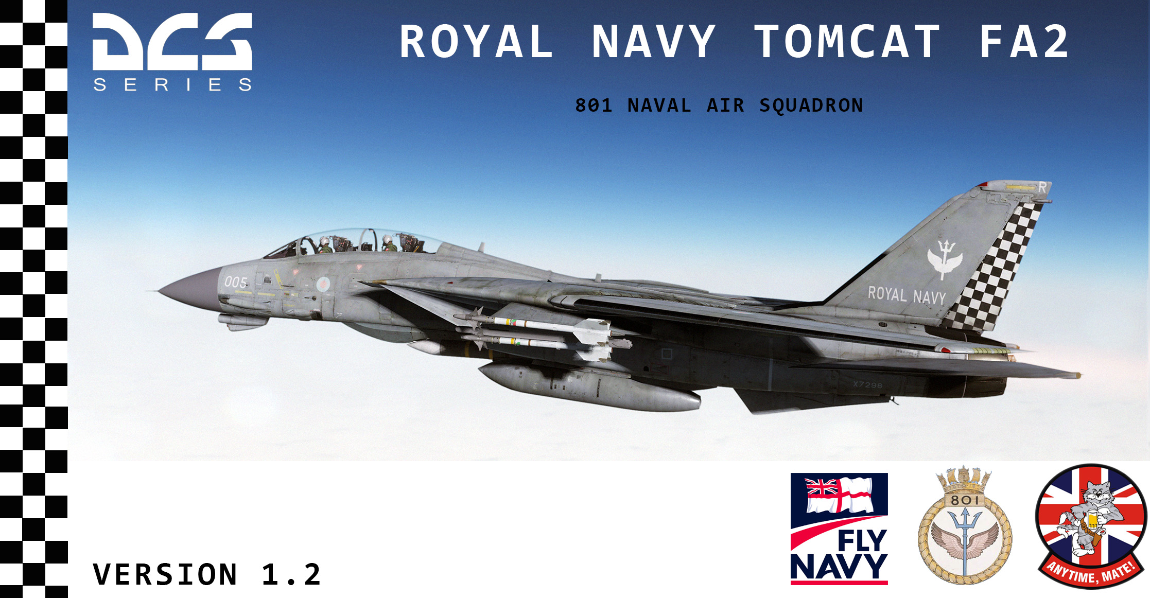 Royal Navy Tomcat FA2 801 Squadron version 1.3